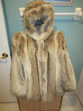 Coyote Fur Coat Jacket with Hood hooded specially made JC