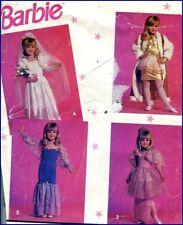 Child's Costume Pattern Girls Barbie Fancy Dress-Up Clothes Bride Sz 3 4 5 6 7 8