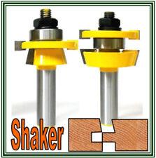 """2pc 1/2"""" Shank shaker Bevel Rail and Stile Router Bit Set S"""