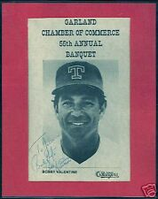 SIGNED Bobby Valentine Photo 8x10 Texas Rangers Nice!