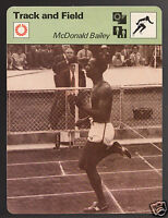 McDONALD BAILEY Trinidad Track Sprinter Olympics 1978 UK SPORTSCASTER CARD 30-10