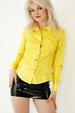100% Latex Rubber Gummi Shirt Coat Top Jacket Catsuit Suit Clothing Classic