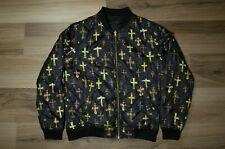 Supreme Crosses Reversible Bomber Black crucifix bomber jacket Size M
