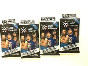 2017 TOPPS WWE THEN NOW FOREVER FAT PACKS ( 4 PACK LOT )