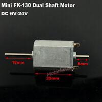 Mini FK-130 DC 12V-24V High Speed Micro 15mm*20mm Electric Motor Dual 2mm shaft