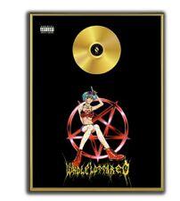 Playboi Carti Poster, Whole Lotta Red GOLD/PLATINIUM CD, gerahmtes Poster HipHop