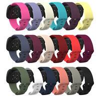 S/L Silikon Armband Uhrenarmbänder für Fitbit Versa 3, Fitbit Sense Smart Watch