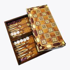 SUPER LUXUS BACKGAMMON TAVLA XXL 50 X 50 CM Orientalische  Design Intarsien Look