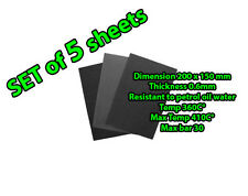 5 Gasket Paper Material Sheets 20x15cm 0.6mm Petrol Gasoline Oil Fuel Resistant