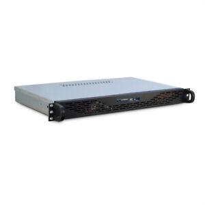 """19"""" Servergehäuse / Industrie-Gehäuse, 1HE, schwarz - Unterstützt ITX-Motherboar"""