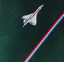 BAC Sports Club tie Concorde British Aircraft Corporation vintage 1970s plane