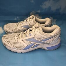 Reebok Women's White Blue Lace Up Running Shoe V56309 US Size 9.5 Trainer Trail