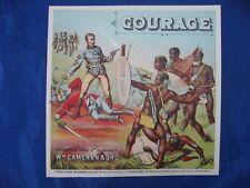 COURAGE TOBACCO Caddy Label, 1800'S WM. CAMERON & BRO Original RARE VINTAGE