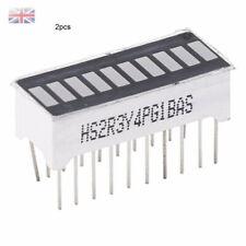 2pcs 10-Segment LED Light BAR Graph Indicator DIP Display Red - UK STOCK