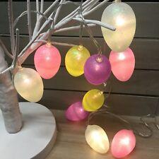 10 Egg LED Battery Lights Easter Decoration Gisela Graham 1.35m Vintage String