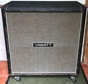 Hiwatt SE4123 1974 4x12 Speaker Cabinet Original Fanes