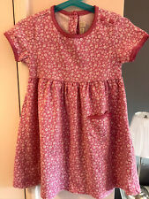 Pretty JoJo Maman Bebe Floral Pink & White Summer Dress Girls Age 3-4 Years