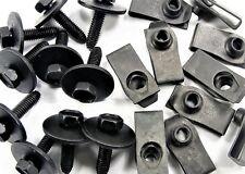 GM Body Bolts & U-nut Clips- M6-1.0 x 25mm Long- 10mm Hex- 40 pcs (20ea)- #147F