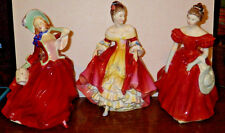 ROYAL DOULTON Figurines Autumn Breezes, Southern Belle, and Winsome MINT