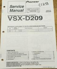 PIONEER VSX-D209 AUDIO MULTI-CHANNEL RECEIVER ORIGINAL SERVICE REPAIR MANUAL