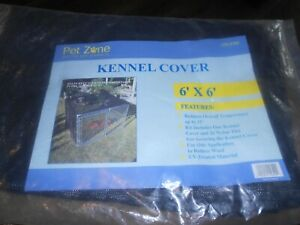 pet zone 6' x 6' kennel cover