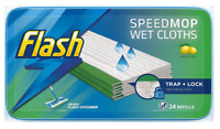 24 x Flash Speedmop Wet Cloth Refills Multi-Surface Cleaner Lemon Scented