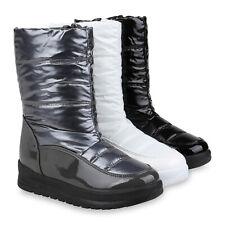 Damen Stiefeletten Winter Boots Warm Gefütterte Winterstiefel 832594 Schuhe