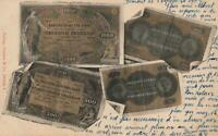 1902 VINTAGE SWITZERLAND FRANKEN BANKNOTES POSTCARD - USED - sent to Barracks