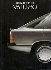 Renault 25 V6 Turbo 1985-86 UK Market Foldout Sales Brochure