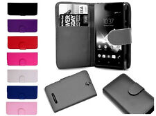 Leather Book Wallet Cover Pouch Case Sard Slots For Sony Xperia S LT26i LT26 UK