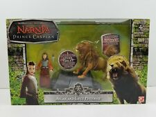 Chronicles of Narnia Prince Caspian Lucy & Aslan Action Figure Set 2007 RARE 🦁