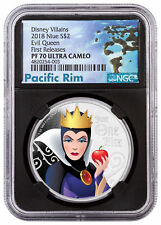 2018 Niue Disney Villains - Evil Queen 1 oz Silver NGC PF70 UC FR Black SKU53808