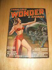 Thrilling Wonder Stories for April 1949 Great Cover Art Vintage Pulp Magazine