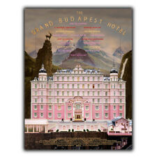 The Grand Budapest Hotel METAL PLAQUE WALL SIGN Film Advert Poster Print