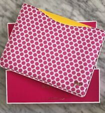"""NEW Juicy Couture IPad Tablet Sleeve Case NEW Pink White Polka Dots Fits 9.7"""""""
