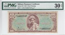 Series 541 $10 Military Payment Certificate Pmg Vf 30 Epq S857-1 F14055713F