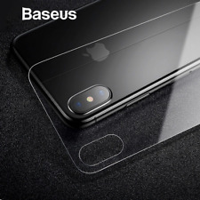 Baseus 3D 0.3mm Tempered Glass Back Cover Ultra Thin Scratch Proof For iPhone X