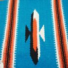 Vintage Chimayo Wool Woven Small Turquoise Southwestern Textile NWT 1960s