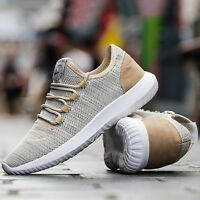 Men Sports Shoes Lace up Mesh Hiking Breathable Sneaker Outdoor Running Shoes D