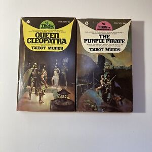 Tros Of Samothrace Lot Of 2, Talbot Mundy, Queen Cleopatra And The Purple Pirate