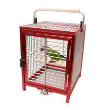 Aluminum Travel Cage for Small to Medium Parrots and Parakeets