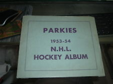 1953 - 1954 Parkhurst Hockey Light Blue Parkies NHL Hockey Album Empty