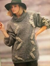 Womans Knitting Pattern - DK Cotton Mix Jersey with Zig Zag Loop Effects