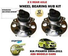FOR KIA PICANTO 1.0 1.1  2004-2011 NEW ABS MODEL 2 X REAR WHEEL BEARING HUB KITS
