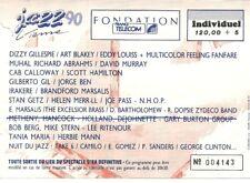 RARE / TICKET DE CONCERT - JAZZ DIZZY GILLESPIE LIVE A VIENNE ( FRANCE ) 1990