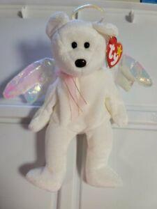 "1998 Ty Retired Halo White Angel Beanie Baby! Brown Nose New MWMT RARE  8"" 20cm"