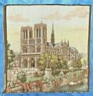 """Notre Dame Small Tapestry MADE IN FRANCE 9.5"""" Square VINTAGE Free Shipping EUC"""