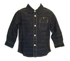 S.OLIVER gestreiftes Hemd mit Neondetails SLIM Gr. 140 dunkelblau NEU