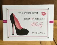 Personalised Daughter Birthday Card, 16,17,18,21St,40,50th, Sister, MUM, NIECE,