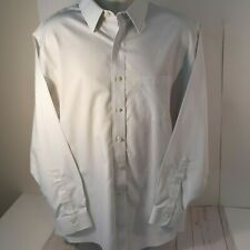 Mens Brooks Brothers Long Sleeve Non Iron 1818 Classic Cotton White Stripe Shirt